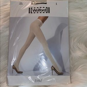 New Wolford Emile 40 Denier Tights/Black Color